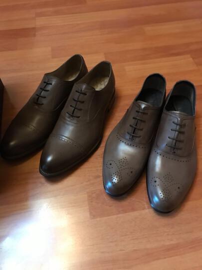 爱得堡 皮鞋男商务皮鞋商务休闲鞋男士皮鞋休闲鞋男 M1617 黑色MG15 40码 晒单图