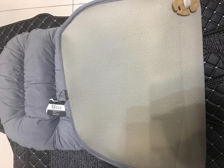 笨斯基汽车坐垫冬季保暖车垫三件套办公椅单片坐垫沙发垫短毛绒加厚冬天棉座垫座套 黑色后排坐垫 晒单图