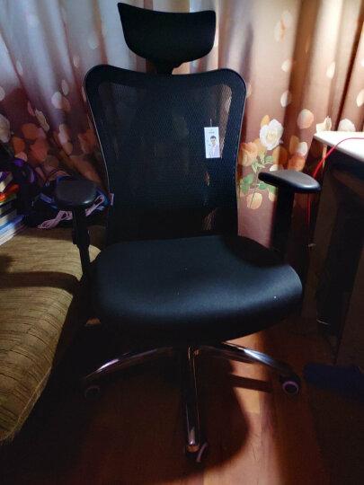 西昊(SIHOO) 人体工学电脑椅子 家用老板椅电竞椅 靠背转椅座椅 护腰办公椅可躺 M18黑色 晒单图