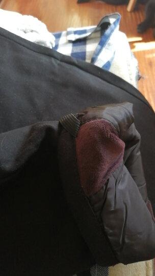 恒源祥新款修身羽绒裤女外穿显瘦高腰小脚铅笔裤大码加绒加厚2322 1号黑色2322 185/104B/XXXXL 晒单图