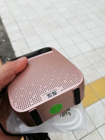 索爱(soaiy)S-618 18W有线大功率便携式数码扩音器 教学专用导游导购插卡U盘播放器唱戏机 玫瑰金 晒单图