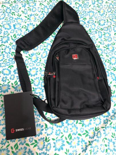 SWISSGEAR胸包 商务多功能潮流单肩包小背包防泼水户外斜挎9.7英寸iPad包 SA-7719mini 黑色 晒单图