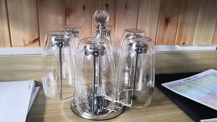 KARPHOME卡普家居耐热玻璃杯双层家用泡茶杯办公室防烫手喝水杯啤酒饮料果汁杯子杯架套装 6只装450ML+不锈钢杯架 晒单图