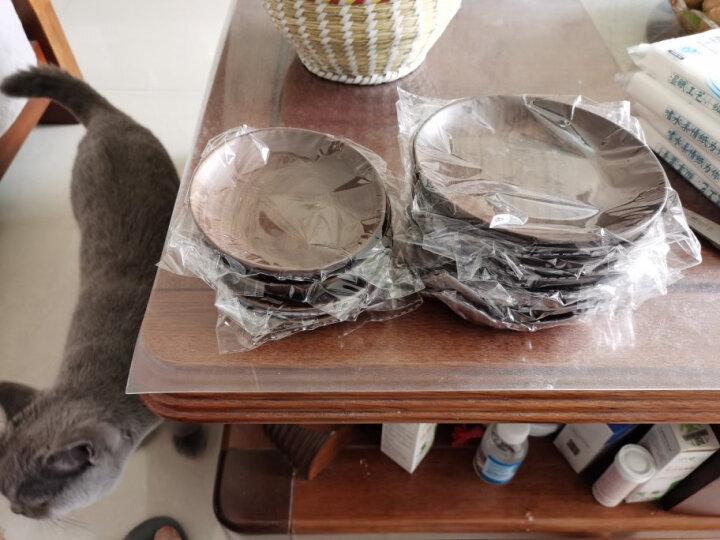 舍里 日式实木手工黑胡桃圆盘 创意碟子水果零食盘点心水果早餐盘 20cm拼接 晒单图