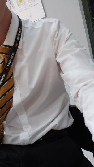 海派浩宇长袖衬衫男修身商务正装衬衣免烫白色职业装舒适工装 紫色 XL/41 晒单图
