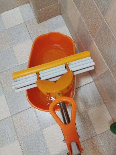 太太乐 小号28cm 中号33 大号38cm拖把头 对折滚轮 滚轮挤水海绵拖把头 胶棉头替换 小号27厘米 橘色 晒单图