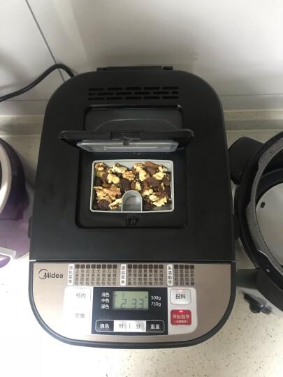 美的(Midea)面包机 早餐机 烤面包机 和面机 多功能 可预约全自动家用双撒料智能面包机多士炉 ESC1510 晒单图