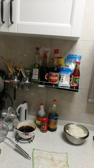 奔天 免打孔厨房置物架壁挂收纳架厨房用品304不锈钢厨具调料架带刀架筷子筒 新款简约刀架 晒单图