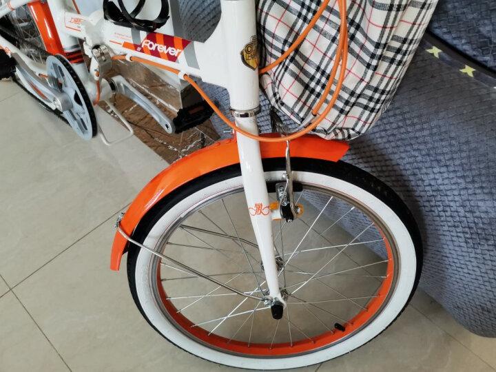 永久永久折叠车自行车 铝合金20寸7速/男女学生单车 雅途  橙色 铝合金新款 20寸 晒单图