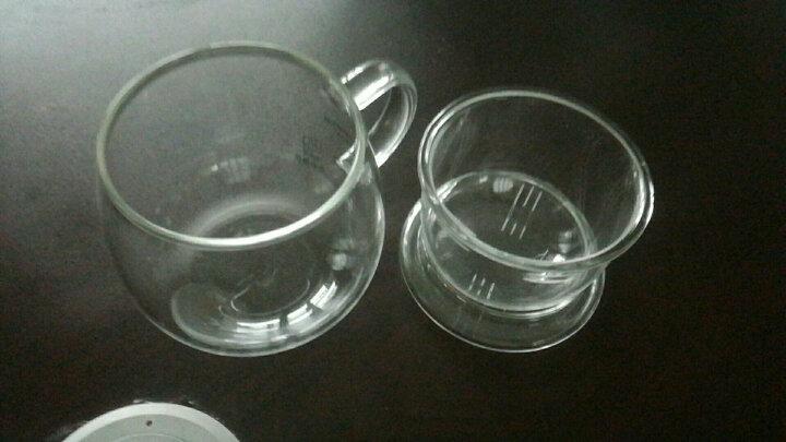 品茶忆友 玻璃杯水杯子泡茶杯茶水分离杯办公室耐热玻璃茶水杯 p-03圆趣(透明把) 晒单图