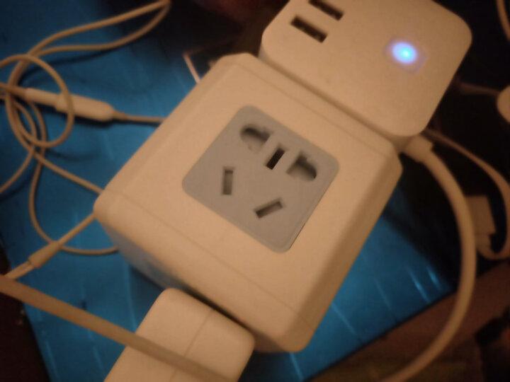 绿奥(LVAO)魔方插座/无线插座/转换器/转换插头/插排/一转四双USB GY-666USB 晒单图