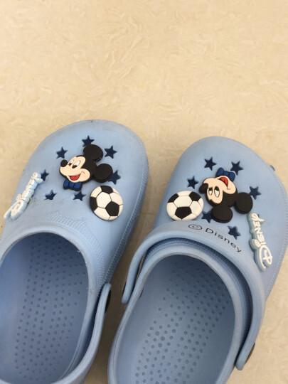迪士尼 Disney 拖鞋 儿童凉拖鞋宝宝洞洞鞋防滑家居鞋099宝蓝14码内长14cm 晒单图