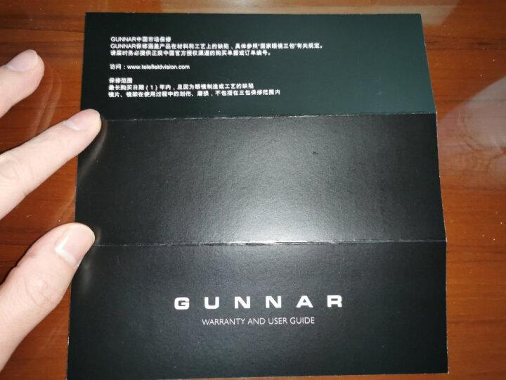GUNNAR Enigma 玛瑙黑色镜框 琥珀色镜片 电竞防蓝光眼镜 晒单图
