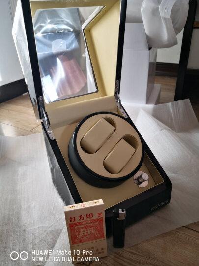 柯士尼防磁摇表器自动表盒手表盒上链盒上弦盒旋转晃表器转表器电动马达盒自动表盒收藏送领导父亲节节日礼物 6+7表位-黑色高光油漆+黑色皮(五档) 晒单图