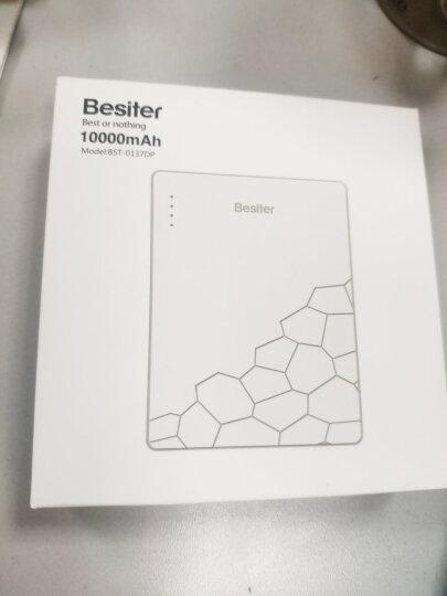 倍斯特(Besiter)10000毫安 移动电源/充电宝 超薄聚合物 双USB输出 智能兼容苹果/安卓 米格尔005Q 白色 晒单图