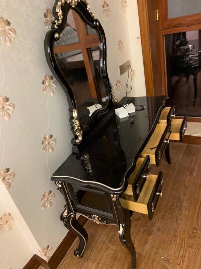 梦美斯宣 化妆台 欧式卧室古典梳妆台 实木梳妆台 美式古典黑色梳妆台 1608-A 妆台+妆凳组合 晒单图