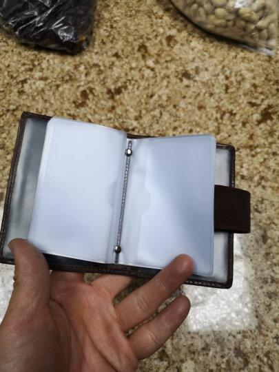 欧凡卡蒂卡包卡片包男士真皮多卡位大容量银行卡夹头层牛皮公交卡套女式名片包驾驶证皮套名片夹 西瓜红 晒单图
