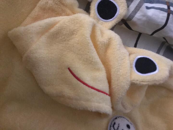 欣美舒 儿童纯棉浴巾斗篷卡通浴袍带帽春秋夏季 婴儿浴巾浴衣宝宝游泳斗篷加长吸水温泉衣 金黄色(70*140cm) 晒单图
