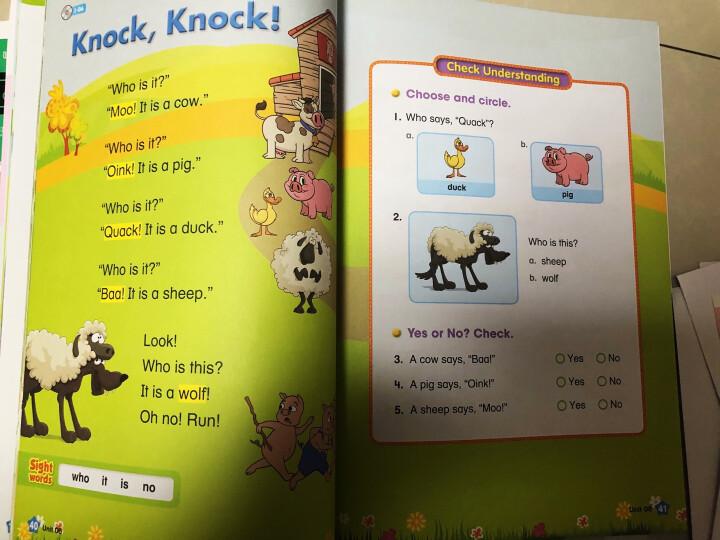 美国幼儿园课本 自然拼读 阶段1(字母认读,套装全2册,含课本+美国老师原音光盘+挂图+贴纸) 晒单图