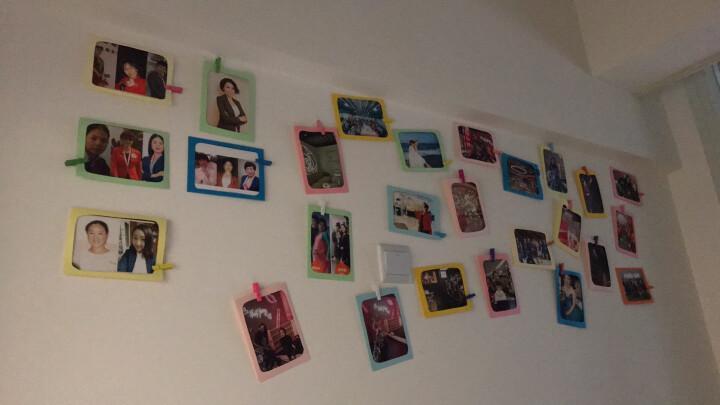 馨颜 纸质DIY组合悬挂式相框相片墙 照片墙 3寸森林动物6张+彩夹 晒单图