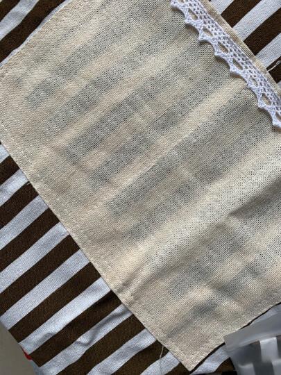 利得 围裙棉麻无袖家居厨房条纹时尚围裙烘焙围裙厨房DIY小工具 晒单图