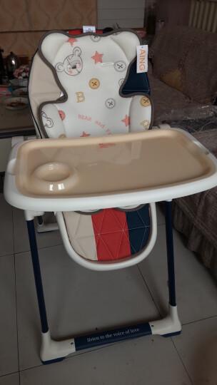 爱音(Aing)3D透气蜂巢凉垫儿童餐椅四季通风座垫婴儿推车凉席童车垫纽扣熊 晒单图