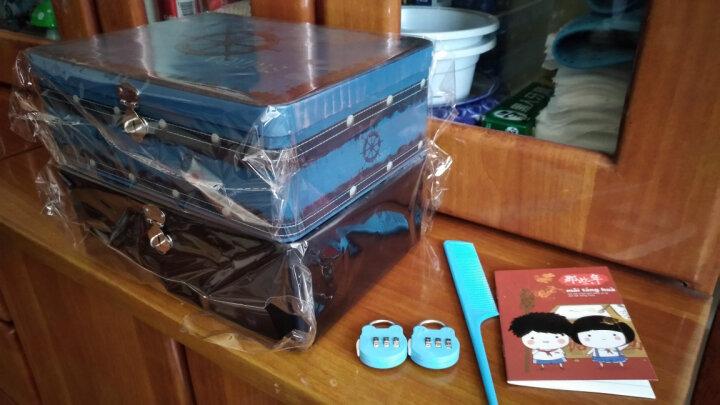 随想曲 带锁收纳盒铁盒子保险箱创意桌面整理储物箱化妆品珠宝首饰盒创意礼品密码锁保险盒 火烈鸟-大号 晒单图