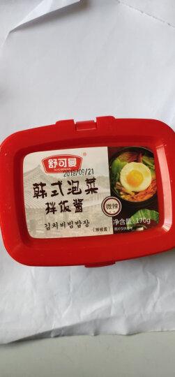 舒可曼 韩国辣酱 韩式泡菜石锅拌饭拌面酱 年糕烧烤酱 火锅底料蘸料 170g 晒单图