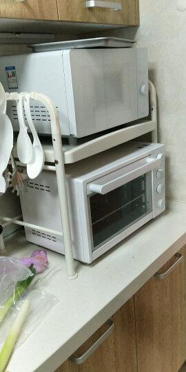 宝优妮 厨房微波炉置物架调料架双层烤箱架厨房配件收纳免打孔落地储物架 赠6个挂钩DQ1210-C 晒单图