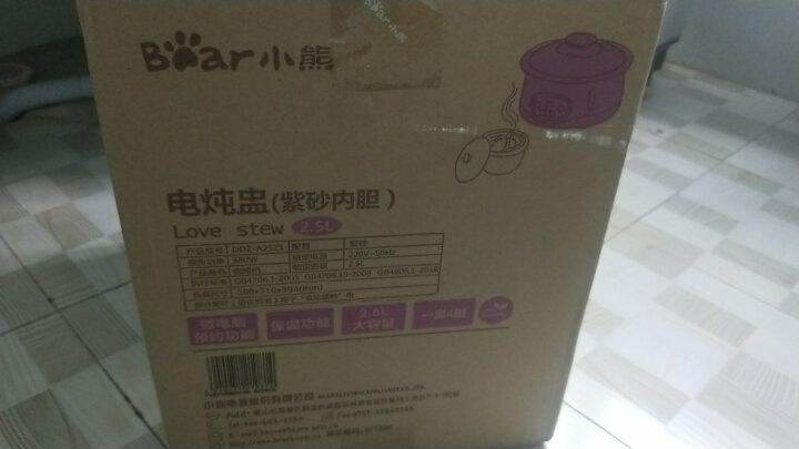 小熊(Bear)电炖锅 电炖盅 煲汤锅紫砂锅 隔水炖盅炖汤养生煮粥锅2.5L4胆  DDZ-A25Z1 晒单图