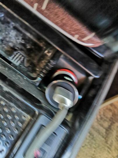 网易云音乐车载蓝牙播放器 车载充电器 一拖二USB车充 汽车车载mp3音乐手机充电器 FM发射器智能车充 炫酷黑 晒单图