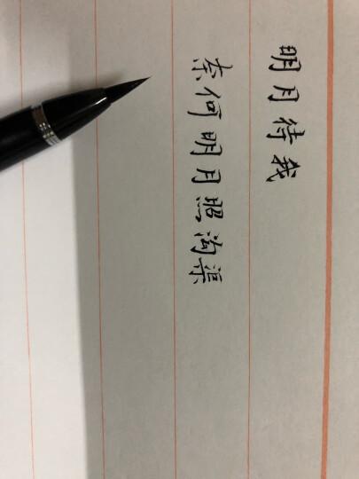 【进口墨笔】日本吴竹万年毛笔套装 吴竹卓上8号7号便携抄经笔 文房四宝兼毫毛笔小楷书法签字笔 卓上8号单支 晒单图