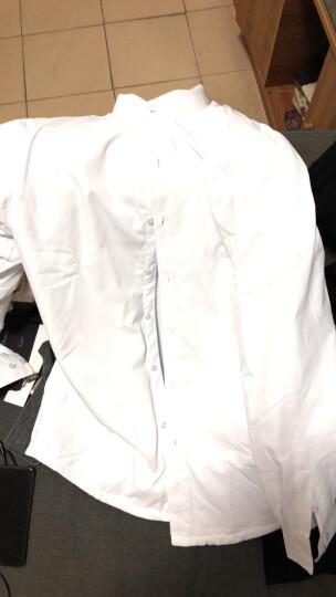新款白色立领衬衫男长袖衬衣男士春夏薄款商务休闲韩版修身青年装学生黑色衬衫中山装衬衫中国风 紫色立领薄款 XL/41 晒单图