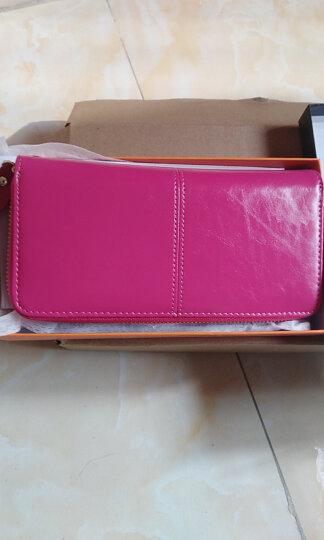 Viney钱包 女长款女士钱包新款女式卡包手拿包女油蜡真皮手包女 经典黑 晒单图