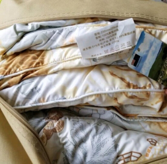 富安娜家纺 澳洲羊毛被子冬天单人被芯双人加厚保暖 第三代澳洲羊毛被 1.5米床适用(203*229cm)约7.3斤 晒单图