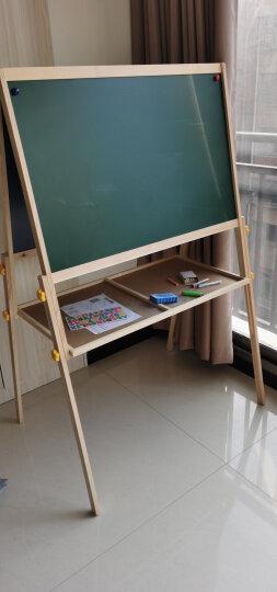 得力(deli) 33056 实木可升降560*540mm双面磁性多功能学生白板 儿童画板画架 粉笔绿板(尺寸不含边框) 晒单图
