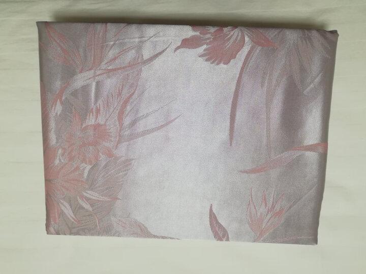 水星家纺 大提花四件套 英伦轻奢床单被罩被套床上用品套件 新沁香浮动 加大双人1.8米床 晒单图