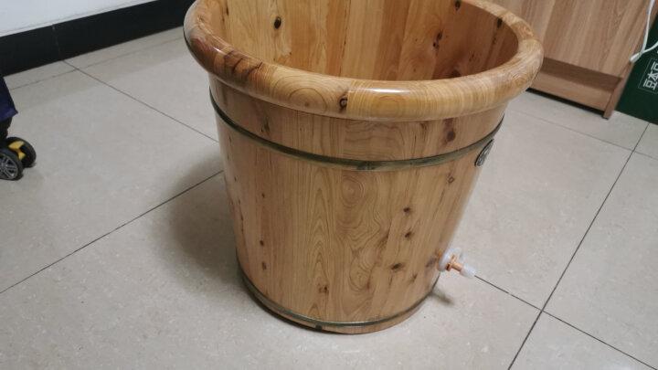 木太祖 40cm木桶泡脚桶浴足盆 实木泡脚盆香柏木洗脚桶 洗脚木盆家用系列 晒单图