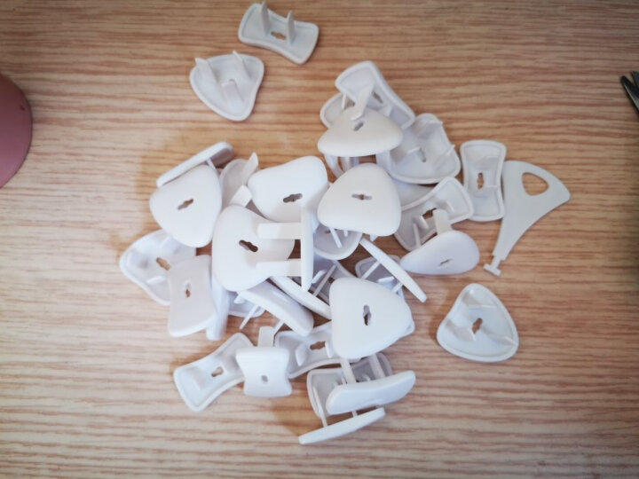 Babyprints插座保护盖防触电儿童插孔保护套插头安全防护盖36个装(两孔18个+三孔18个) 晒单图