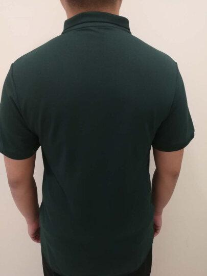 大依优型大码男装短袖T恤POLO衫胖子肥佬男装加肥加大翻领透气半袖t恤夏 经典黑色 6XL 晒单图