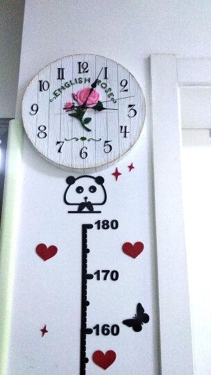 慧心巧聚 挂钟时尚创意现代创意客厅卧室欧式时钟静音钟表个性玫瑰花壁钟 晒单图