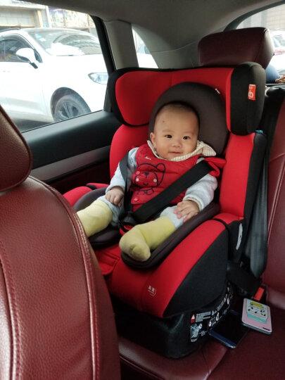gb好孩子 高速汽车儿童安全座椅 欧标五点式安全带 双向安装 CS718-N004 灰色满天星 (0-7岁) 晒单图