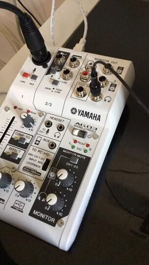 YAMAHA/雅马哈 AG03 AG06调音台带声卡家用电脑手机直播K歌录音麦克风声卡套装 AG03(单话放) 晒单图