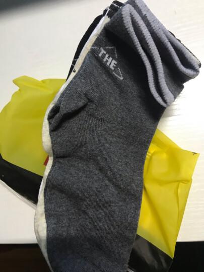 南极人彩边条纹棉袜子袜子男士袜子纯色中筒透气吸汗袜5双 混色 均码 晒单图