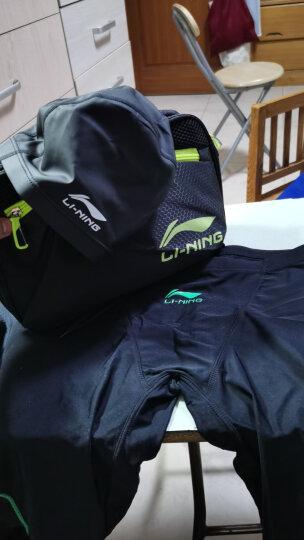 李宁 LI-NING 专业游泳及膝泳裤泳镜泳帽套组 时尚大气游泳装备套装 LSJK111 黑XL 晒单图