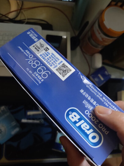 欧乐B电动牙刷 3D声波震动(刷头*2)清除牙渍樱花版P2000蓝德国进口 晒单图
