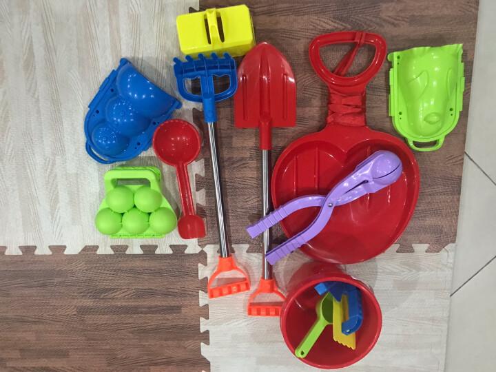 儿童玩雪玩具夹雪器雪球打雪仗堆雪人夹挖沙滩桶铲子耙子工具雪球勺/夹雪器夹雪球器 大组合13件套 晒单图
