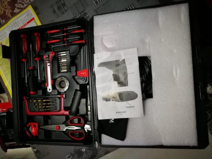 万克宝(WORKPRO)W004510N 家用电钻套装143件套工具箱 组套 调速电钻320W 晒单图