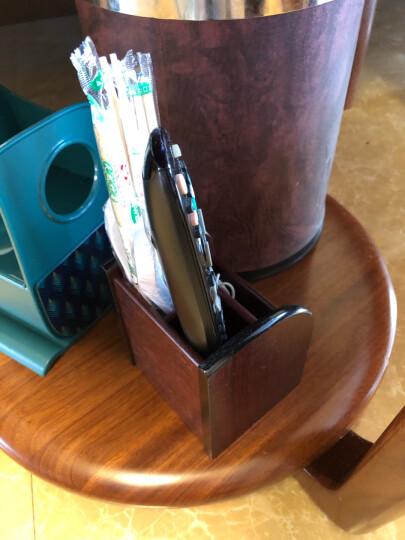信发 TRNFA TN-609 收纳座木质笔筒 办公桌面整理架置物柜 化妆品遥控器收纳用品盒 晒单图