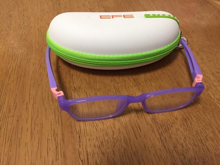EFE儿童防辐射眼镜 防蓝光电脑护目镜预防近视e09014 C4-紫色框 晒单图